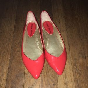 Audrey Brooke Cici Red Patent Pointed Toe Flats